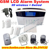anti theif alarm - quad band voice GSM alarm systems security home with LCD SMS call etc for intruder burglar anti theif alarm kit