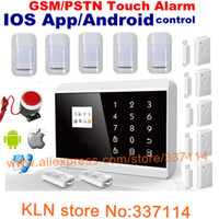 Wholesale IOS APP Android control Smart GSM Home Alarm System with LCD touch for alarme home security