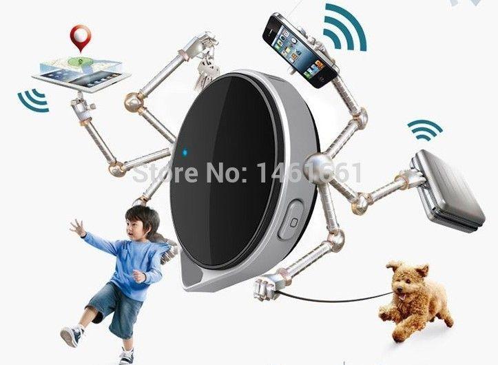 Wholesale-Hot Genuine VTag Bluetooth tag Mini Wireless Bluetooth Anti Lost Alarm bluetooth key finder for iOS iPhone 4S/5/5S 6/6plus iPad