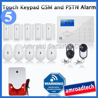 alarm gsm dialler - Most Advanced Touch Keypad LCD GSM SMS and PSTN Wireless Security Home Burglar Intruder Alarm System Auto Dialler iHome328GPB5