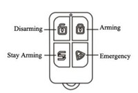 alarm systems chains - wireless arming disarming remote key chain control our H31 gsm pstn touch LCD alarm system