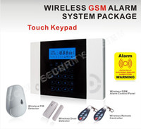 alarm keypad manual - or433mhz wireless zones and wired zones gsm alarm system MHz Touch keypad lcd screen with French manual