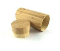 Wholesale only bamboo case Cylindrical bamboo box waterproof professional protect your wood sunglasses hard case box01