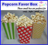 Wholesale Polka Dot Stripe Popcorn Boxes Popcorn Bags or Candy Box for a birthday party or celebration
