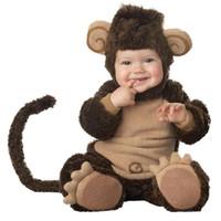 Wholesale Lil Monkey Infant Toddler Halloween costume Baby Romper jumpsuit Animal cosplay onesie suit