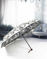 baroque art painting - Granny Chic Baroque Rococo Art Angle Vintage Painting Japanese Brand Sun Rain Art Umbrella Fold Anti Uv French Royal Court