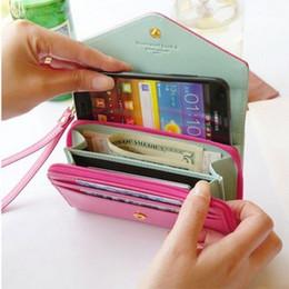 Monederos de las señoras de color beige en venta-Bolso encantador de la carpeta y del teléfono del embrague de la corona del sobre de las señoras de las nuevas mujeres coreanas de la manera Wholesale-10x2015 7