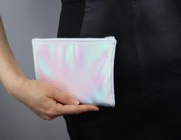 Wholesale Hot Sale Women Hologram Laser Clutch Bag Girl s Laser Silver Make Up Small Handbag Purse Clutch Wallet Bag