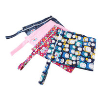 Wholesale Baby Travel Nappy Reusable Washable Wet Dry Cloth Zipper Waterproof Diaper Bag EH