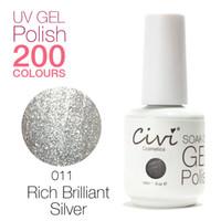 best soak off uv gel - Civi Nail Gel UV Gorgeous Colors The Best soak off Color Gel UV Nail Polish Rich Brilliant Silver