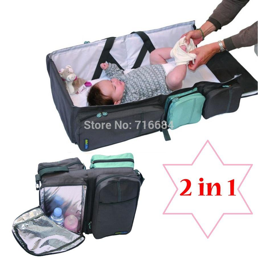 Portable folding bed in a bag - 2017 Wholesale 2 In 1 Belgium Delta Baby Nursery Bag Baby Portable Folding Travel Baby Bag Bed 80 35cm 2015 Bolsa Infantil Para Bebe From Yera