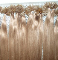 Wholesale 20inch inch inch honey blond straight keratin hair nail hair extensions INDIAN REMY g