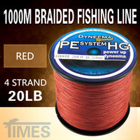 Cheap Wholesale-1000M fishing line red 1000M 20LB 4 strand braided fishing line pesca strong carp fishing fly fishing ocean lure nylon bait