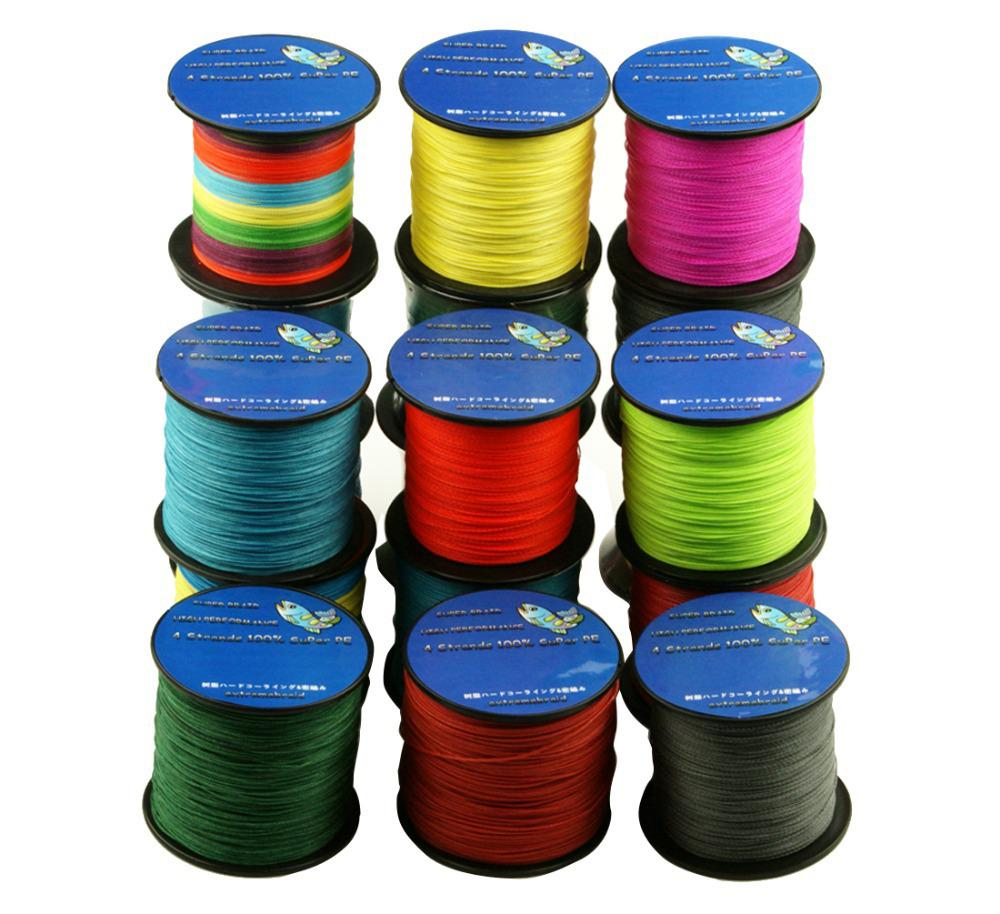 Wholesale multicolor 100 pe 4 strands braided fishing for Bulk braided fishing line