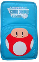 Wholesale 5PCS soft bag super mario pattern bag black pink and blue for ndsl ndsi