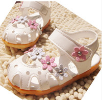 beef sandals - new flowers princess shoes Beef tendon sole Girls sandals white and red of kid shoe children girl shoes