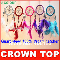 Wholesale HOT Guaranteed beautiful dream catcher witn Small shells piece colours mixed in opp bag