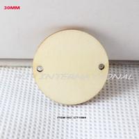 Оптово-150pcs / (много) 2 отверстия висит незавершенного круглый круг деревянные диски поставок вырезы деревянные поделки 1 1/4