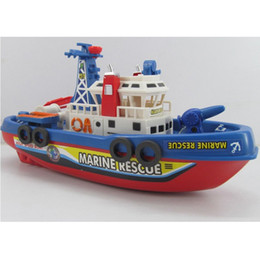 Wholesale HOT New Kids Children Child Toy Fire Boat Loving Sound Flash Water Spray Ship Rescue Fireboat Simulation CX01