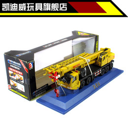 Wholesale High quality mini diecast alloy lifting crane wheel engineering car model vehicle truck toy retail box