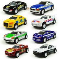 Wholesale Cool Toy Police Cars - Wholesale-Super cool ! Pull Back sound and light plastic toy police car models,8 national police car series,Educational toys,free shipping