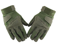 Wholesale Durable Military Tactical Gloves Full finger Airsoft Hunting Cycling Camping Gloves Outdoor Sports Solid