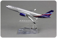 aeroflot airlines - cm Alloy Metal Air Aeroflot Russian Airlines Airplane Model Airbus A330 VP BLY Airways Plane Model W Stand Toy