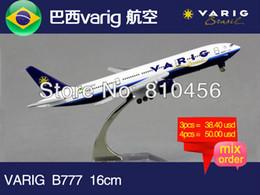 Wholesale Brazil varig Airline B777 cm metal airplane models aircraftmodel airbus prototype plane model kits