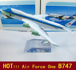 Wholesale new Airlines plane model Aboard air force one B747 cm metal airplane models airplane model