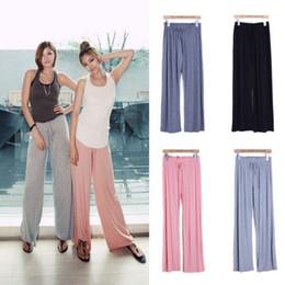 Wholesale Stylish Fashion Lady Casual palazzo pants Trousers Modal Loose Cotton Pants fitness Pants Women Wide Leg Pants
