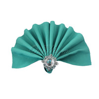Wholesale Teal Blue quot Square Linen Napkin Diner Handkerchief Hanky Beautiful Color Solid For Pocket Napkin WeddingsParties