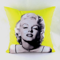 """Cheap Wholesale-18*18 """" Home Decoration Marilyn Monroe Printed Soft Microfiber Fabric Throw Pillow Case Cushion Cover for Sofa Bedding,"""