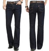 Wholesale New Arrival High Quality Business Flare trousers Men s slim mid waist elastic boot cut Jeans Plus Size Pants