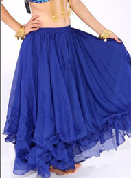 Wholesale Tribal Dancewear LAYERS chiffon Belly Dance costume dancing skirt dress super weit m blue