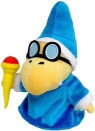 "Wholesale-1pc New Blue Super Mario Bros Plush Doll Soft Toy Gift- Kamek Magikoopa 7"""