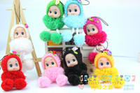 Wholesale Hotsale Wedding gift cell phone decorating kits Lacoon bag holder fashion small plush toys baby doll