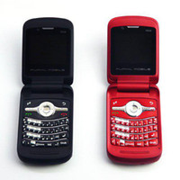 Wholesale Unlocked Flip T910 Qwerty keyboard Dual sim TV Phone JAVA MSN Yahoo Google MP4 phone T910 Free shipp