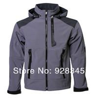 apex hoodies - men denali fleece apex bionic soft shell Waterproof windproof hoodie jacket Black size S M L XL XXL