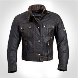 Descuento chaquetas de los hombres de cera Al por mayor-steve mcqueen Hombre de la Chaqueta de la motocicleta chaqueta de los hombres de cera de la ropa de abrigo de calidad superior de La Chaqueta roadmaster