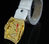 wrestling belt - Clearance Price Wrestling Champion Belt Rotatable W cm Golden Buckle Fashion Personality Gift Spical Offers