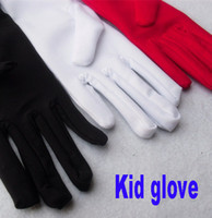 Finger Gloves Unisex 8T+ Wholesale-Kid child boy flower girl white red black short spandex student gymnastic glove costume dancing glove free shipping wholesale