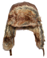 aviator clothes - Bomber Hats Winter Russian Fur Hat Kids Aviator Hat All For Children Clothing And Accessories