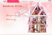 Wholesale Christmas Gift Sunshine Alice DIY Doll House Model Building Kits Handmade D Miniature Wooden Dollhouse Toy
