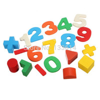 Wholesale Kid Wooden Digital Number House Building Blocks Educational Intellectual Toy amp Drop Shipping