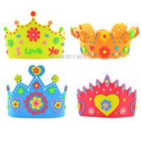 Wholesale hot sale DIY handcraft crown sun hat headdress Eva stickers Three dimensional stickers