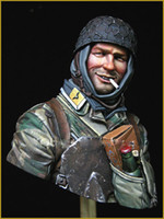 Wholesale World War II German Army Smoking Paratrooper Bust Resin Bust