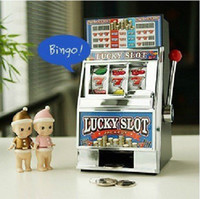 Wholesale Reczone Mini Lucky Slot Machine Coin Bank Toy Set Game Machine hot