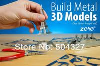 Wholesale Piece Metal Works DIY D Laser Models Assemble Miniature Metal D Model Fokker D VII