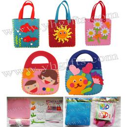 Wholesale DIY felt handbag craft kits Fabric crafts Children bag Kids toys Activity items Fantastic toy x13x3cm design