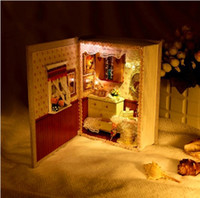 Wholesale New Arrival Diy Dollhouse Lotion Mini Books Handmade Wood Assembling Model Gift Dollhouse Toy